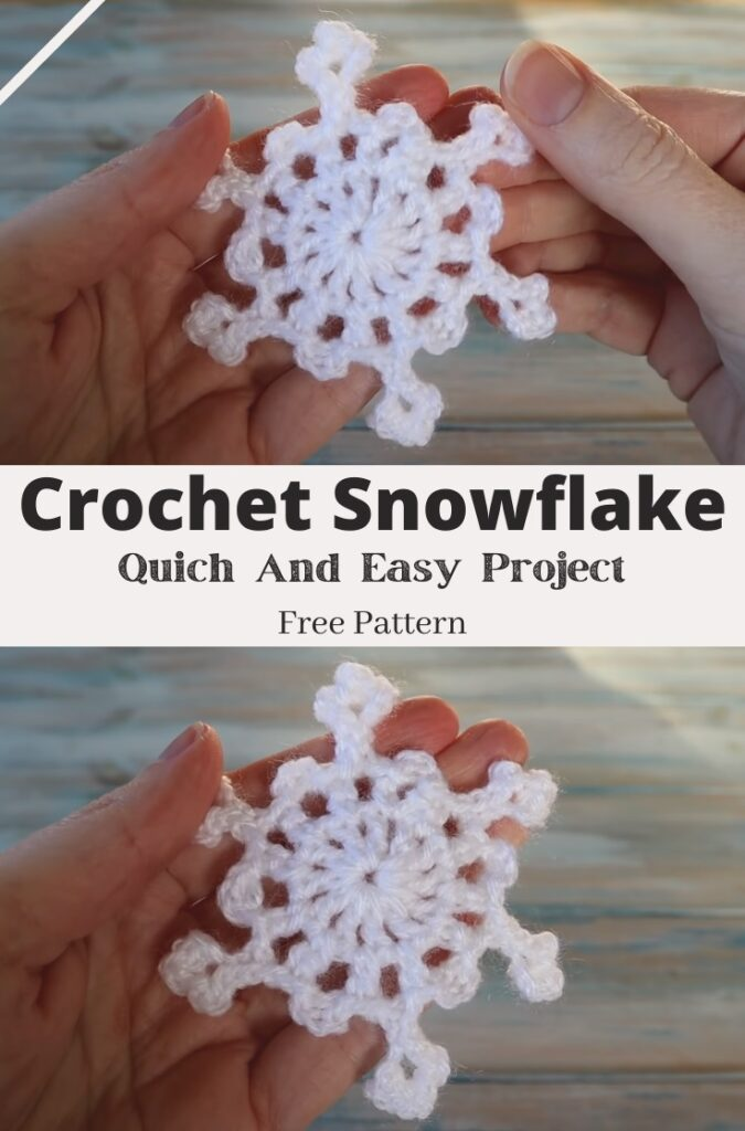 10 Minute Crochet Snowflake