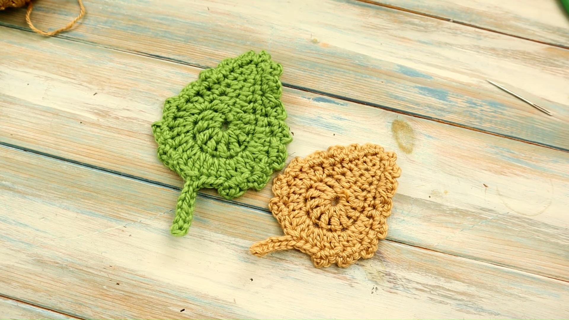 5 Minute Crochet Leaf
