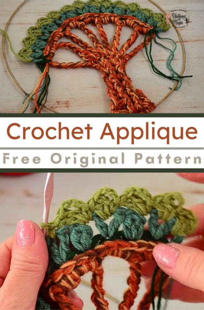 Crochet Decor Tree Applique
