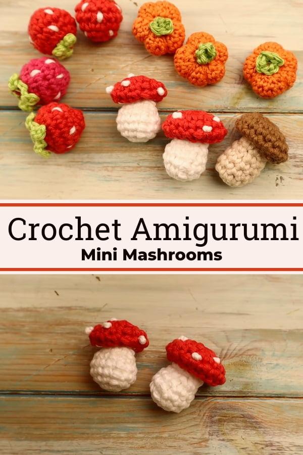 Crochet Miniature Mushroom Amigurimi