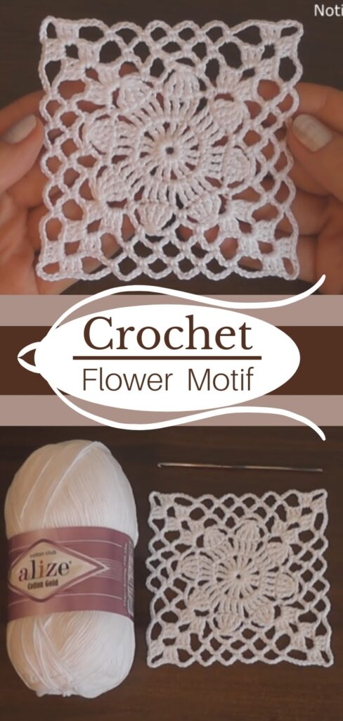 Easy Crochet Motif Flower