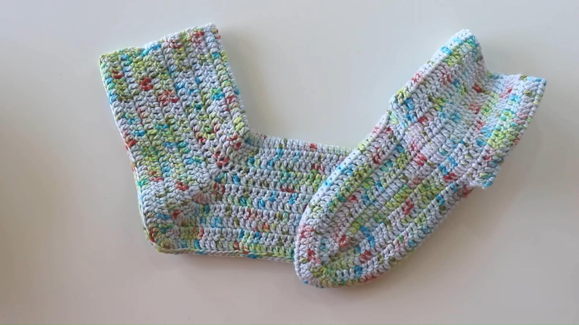 Crochet Simple Slipper Socks
