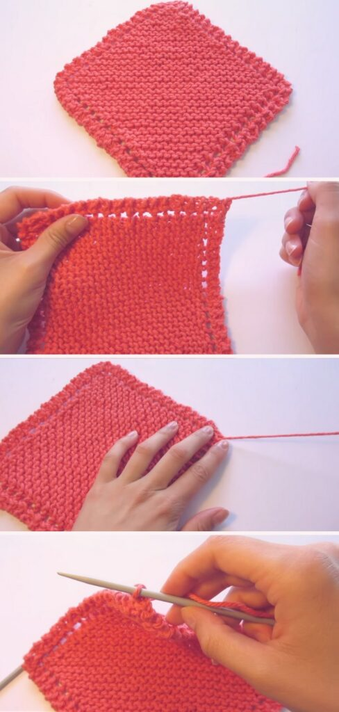 Learn To Knit Simple Dishcloth