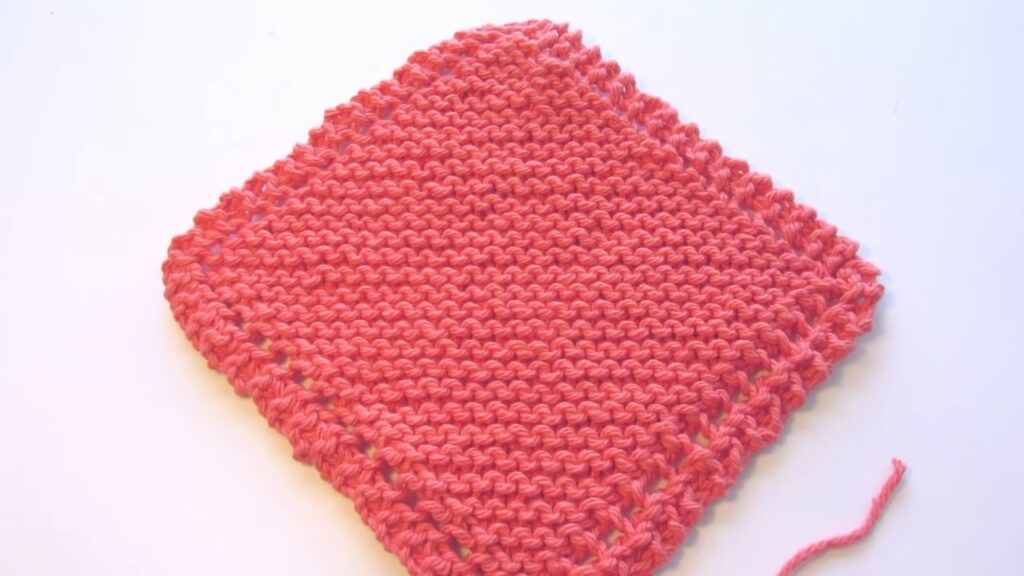Learn To Knit Simple Dishcloth pattern