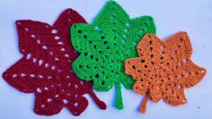 Crochet Autumn Leaves Pattern free