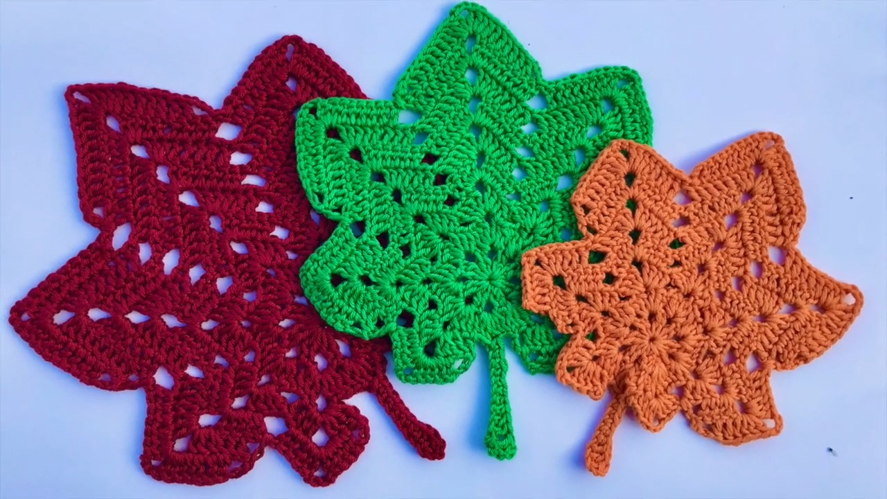 Crochet Autumn Leaves Pattern free