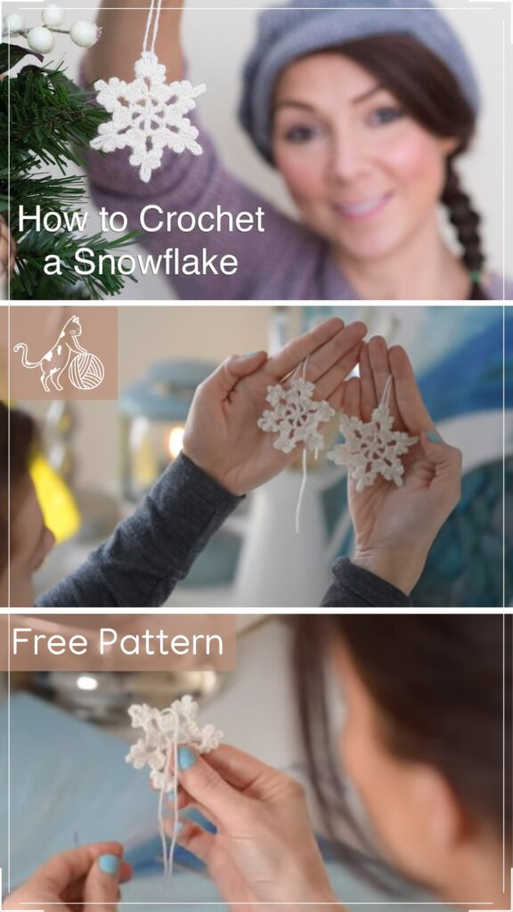 Crochet Snowflake  Christmas Decoration