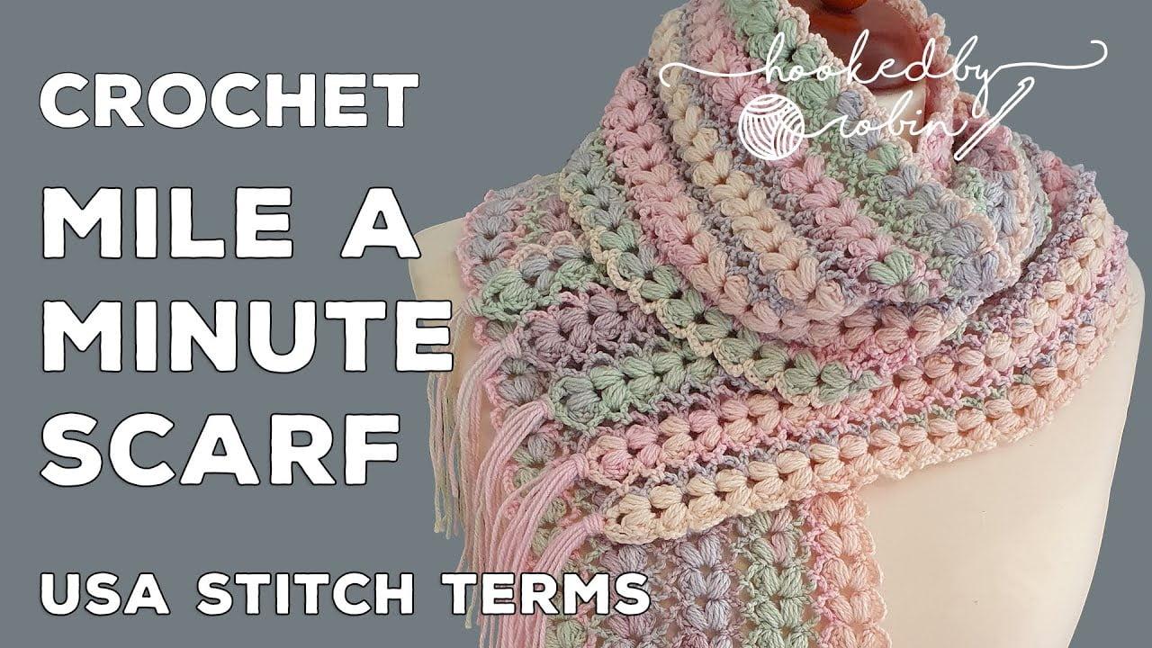 Easy Puff Stitch Crochet Scarf pattern