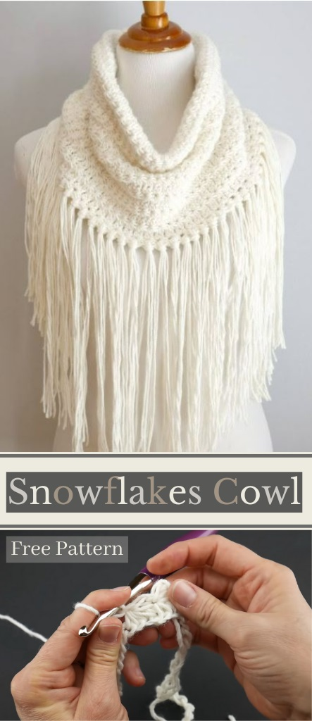 How I Crocheted Catching Snowflakes Cowl