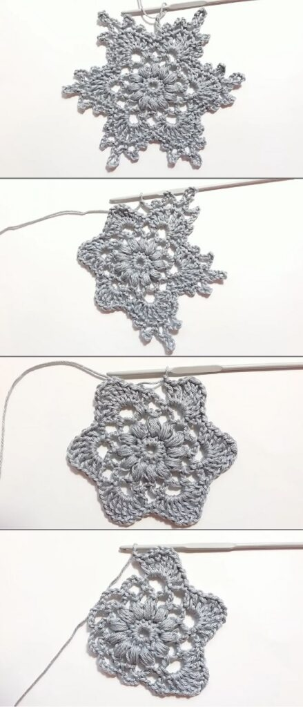 How To Crochet Snowflake Ornament Motif