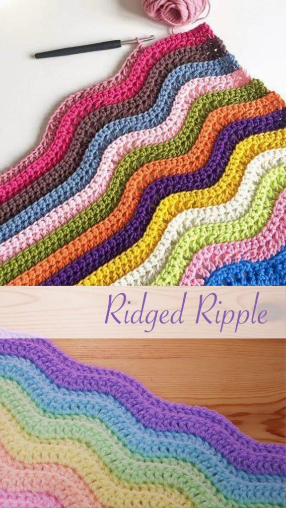 Simple Crochet: Ridged Ripple Blanket / Scarf
