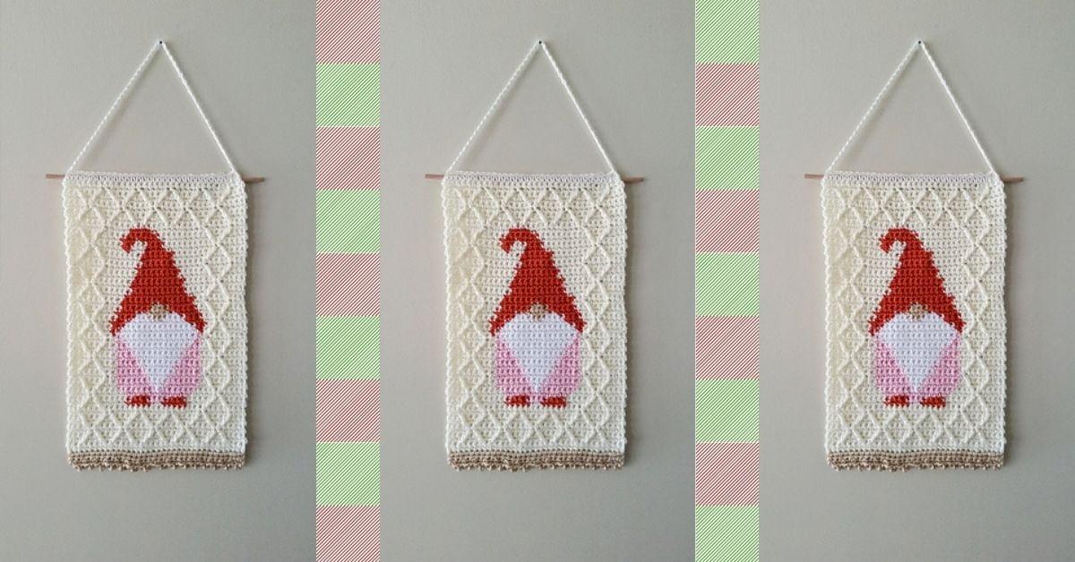 Gnome Wall Hanging PDF Crochet Pattern