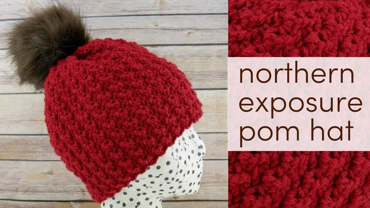 Easy Crochet Pom Hat Pattern