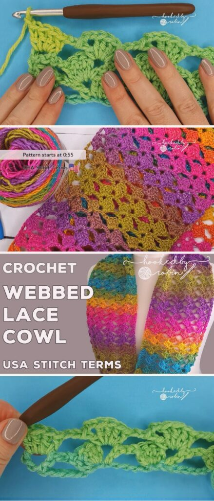 Crochet Easy Scarf / Cowl (One Row Repeat)