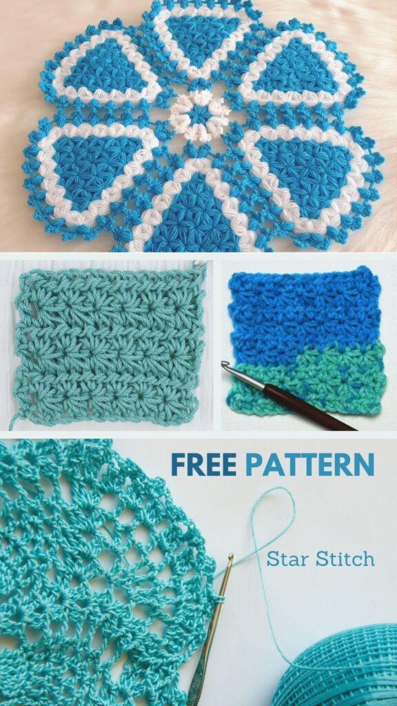 Crochet Star Stitch For Baby Cardigan