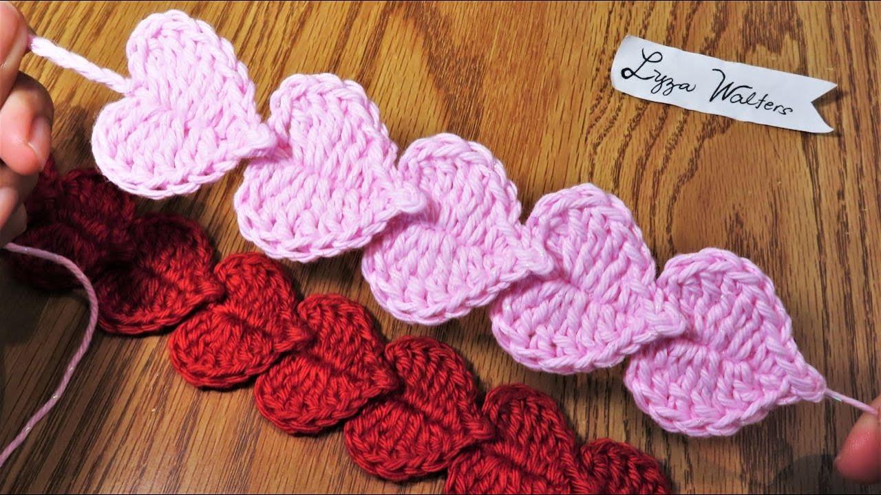 Easy To Crochet Miniature Hearts