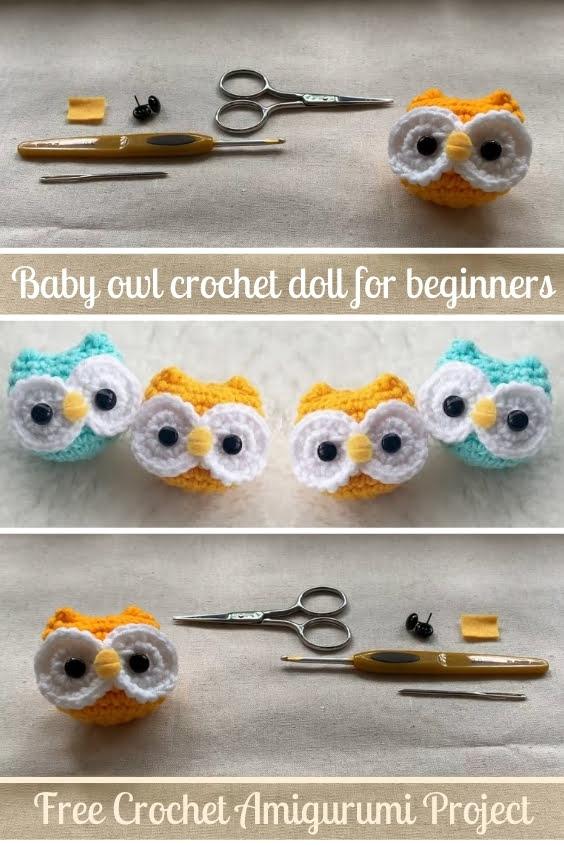 Baby Owl Crochet Doll For Beginners Amigurumi