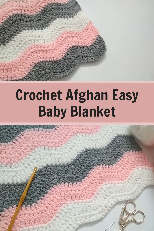How to Crochet Afghan Easy Baby Blanket