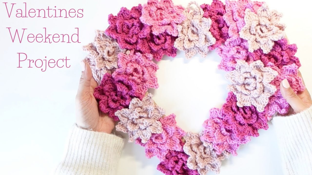 How To Crochet Flower Heart