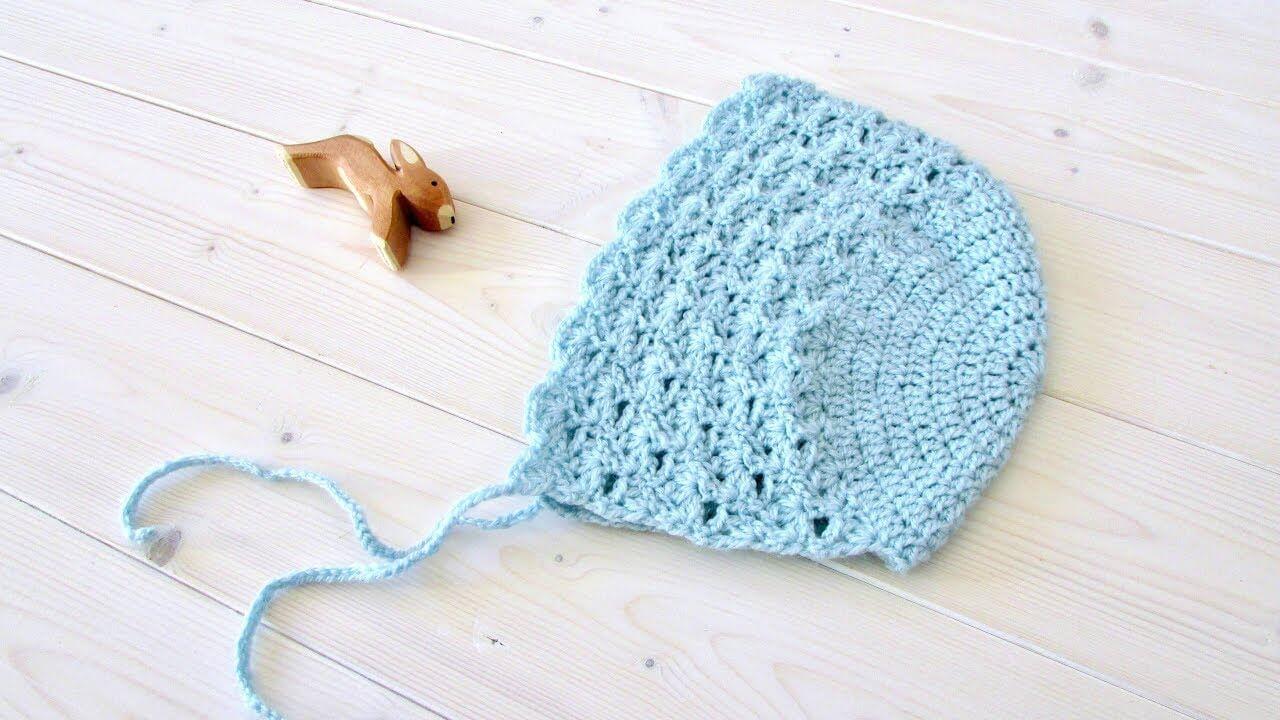 How To Crochet Baby's Bonnet