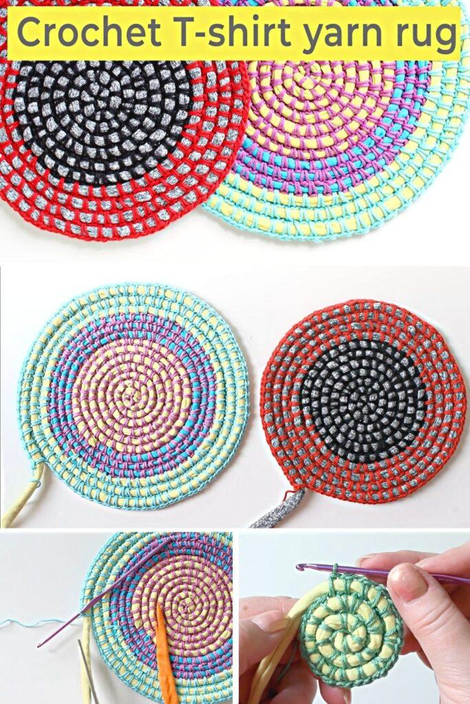 Crochet A Round T-shirt Yarn Rug
