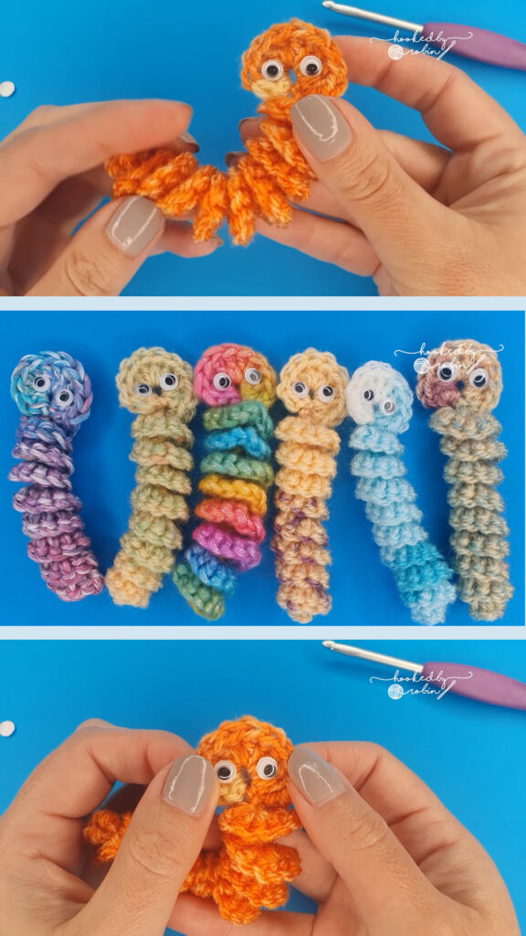 Crochet Amigurumi Worry Worm