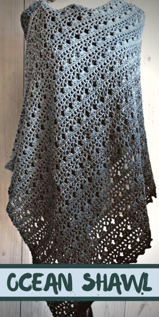 Ocean Shawl Crochet Tutorial